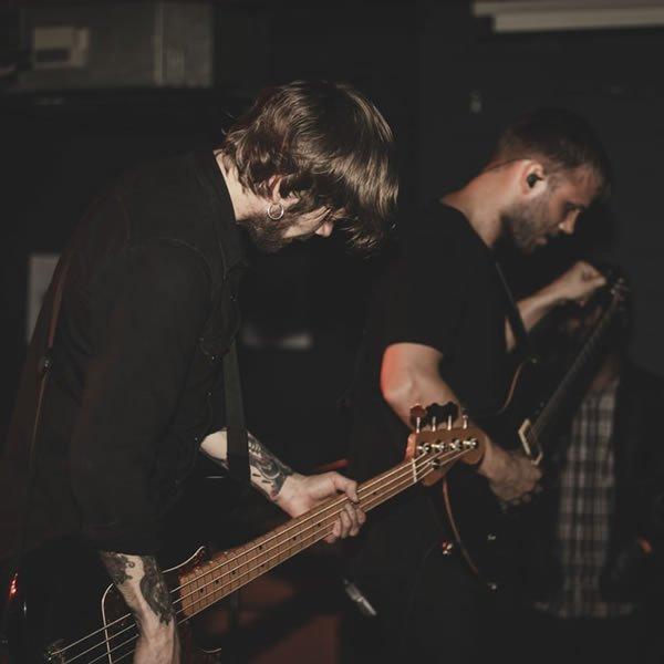 two guys jamming