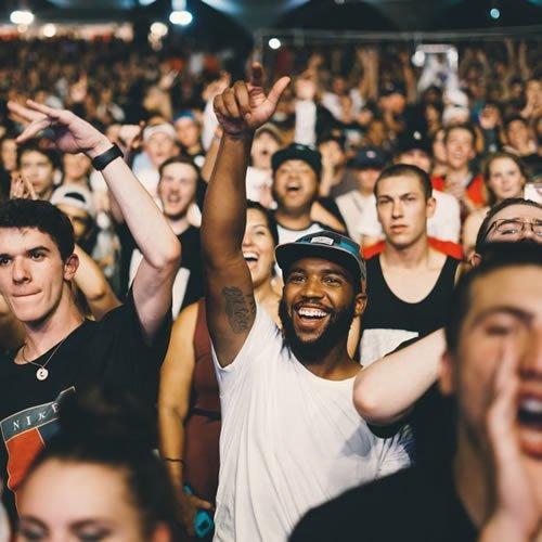 crowd enjoying themselves