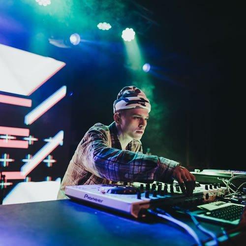 DJ working on turn table